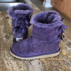 Purple Bow-Back Uggs